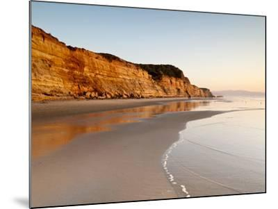 USA, California, La Jolla. Low Tide Cliff Reflections at Torrey Pines State Beach-Ann Collins-Mounted Photographic Print