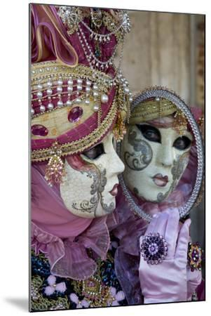 Reflection in Mirror Venice at Carnival Time, Italy-Darrell Gulin-Mounted Photographic Print