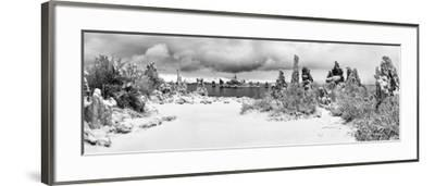 South Tufa Area, Panoramic View of Tufa Formations at Dawn after a Fresh Snowfal-Ann Collins-Framed Photographic Print