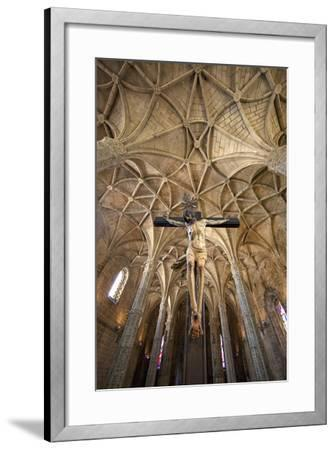 Portugal, Lisbon. Cathedral Inside Jeronimos Monastery-Jaynes Gallery-Framed Photographic Print