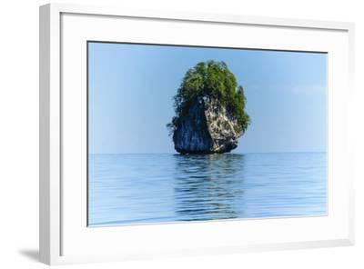 Rocky Outcrops in the Bacuit Archipelago, Palawan, Philippines-Michael Runkel-Framed Photographic Print