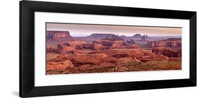 USA, Arizona, Monument Valley. Panoramic View from Hunt's Mesa at Dawn-Ann Collins-Framed Photographic Print