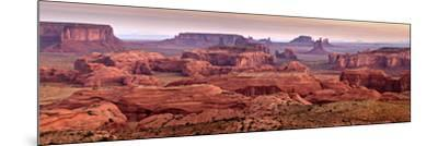 USA, Arizona, Monument Valley. Panoramic View from Hunt's Mesa at Dawn-Ann Collins-Mounted Photographic Print