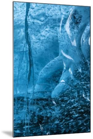 Ice Cave in the Glacier Breidamerkurjokull in Vatnajokull National Park-Martin Zwick-Mounted Photographic Print
