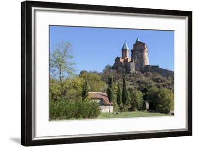 Georgia, Telavi. Gremi Monastery from a Nearby Field-Alida Latham-Framed Photographic Print