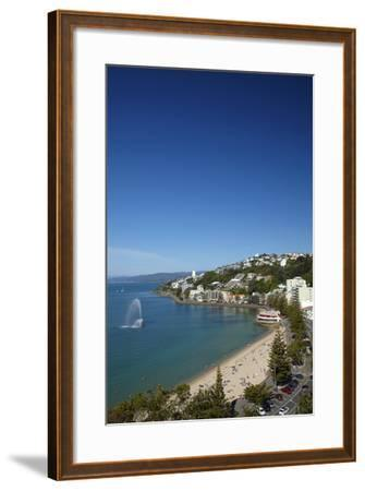 Fountain, Oriental Bay, Wellington, North Island, New Zealand-David Wall-Framed Photographic Print