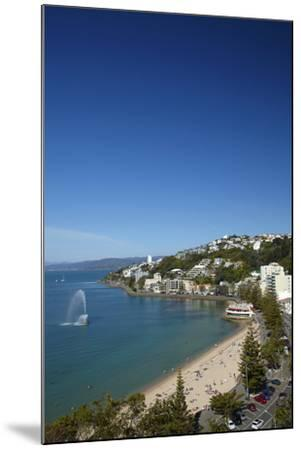 Fountain, Oriental Bay, Wellington, North Island, New Zealand-David Wall-Mounted Photographic Print