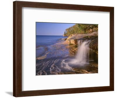 Michigan, Pictured Rocks National Lakeshore-John Barger-Framed Photographic Print