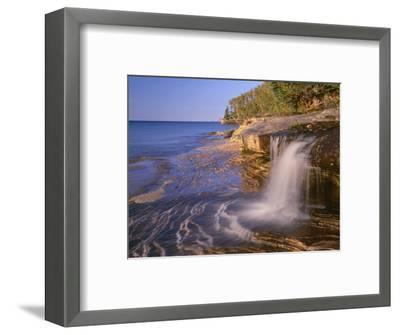 Michigan, Pictured Rocks National Lakeshore-John Barger-Framed Photographic Print