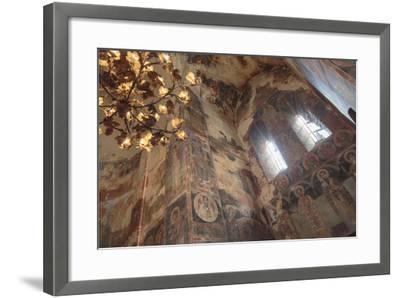 Georgia, Telavi. Religious Artwork at Gremi Monastery-Alida Latham-Framed Photographic Print