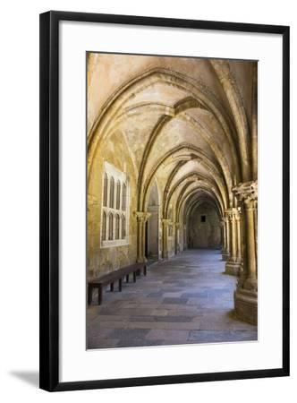 Portugal, Coimbra. Old Cathedral Cloister. Archways, Walking Paths, Courtyard-Emily Wilson-Framed Photographic Print