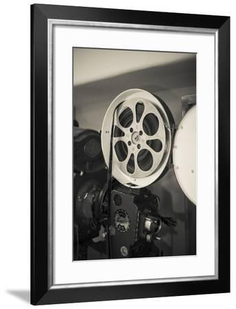 Albuquerque, New Mexico, USA. Central Ave, Route 66 Vintage Film Projector at the Kimo Theater-Julien McRoberts-Framed Photographic Print