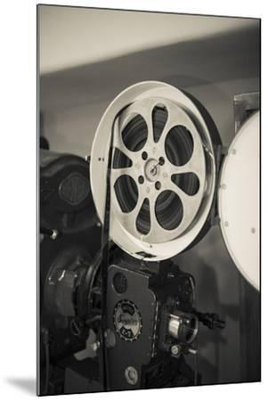 Albuquerque, New Mexico, USA. Central Ave, Route 66 Vintage Film Projector at the Kimo Theater-Julien McRoberts-Mounted Photographic Print