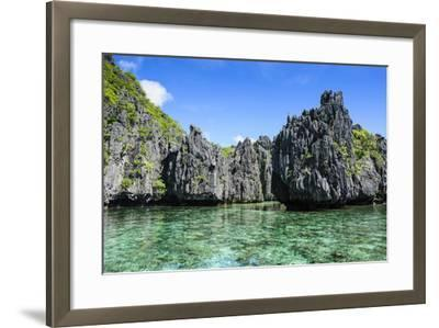 Clear Water in the Bacuit Archipelago, Palawan, Philippines-Michael Runkel-Framed Photographic Print