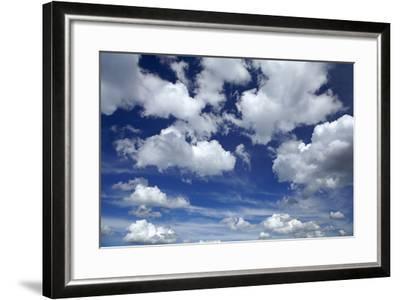 Clouds over Waikato, North Island, New Zealand-David Wall-Framed Photographic Print