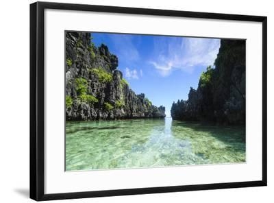 Crystal Clear Water in the Bacuit Archipelago, Palawan, Philippines-Michael Runkel-Framed Photographic Print