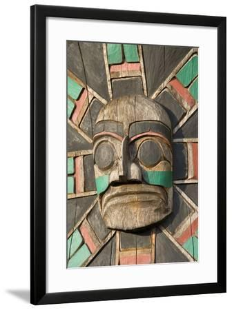 Canada, British Columbia, Vancouver Island. Raven Above Sea Serpent with Wolf and Macquinna Mask-Kevin Oke-Framed Photographic Print