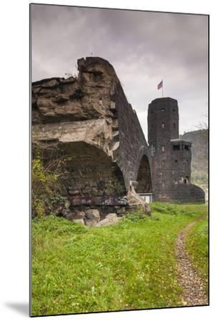 Germany, Rhineland-Pfalz, Remagen, Ruins of the Bridge at Remagen-Walter Bibikow-Mounted Photographic Print