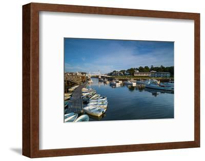 USA, Maine, Ogunquit, Perkins Cove, Boat Harbor-Walter Bibikow-Framed Photographic Print