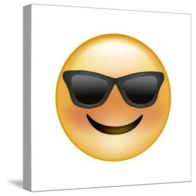 Emoji Sun Glasses-Ali Lynne-Stretched Canvas Print