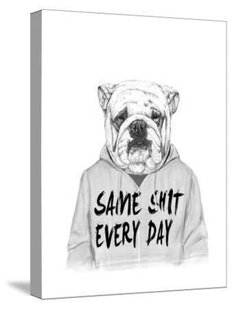Same Shit Every Day-Balazs Solti-Stretched Canvas Print