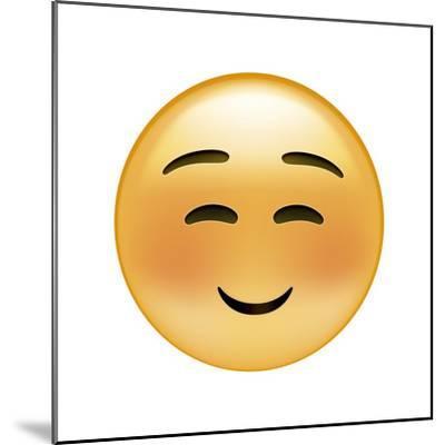 Emoji Squint Small Smile-Ali Lynne-Mounted Giclee Print