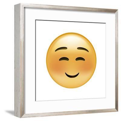 Emoji Squint Small Smile-Ali Lynne-Framed Giclee Print