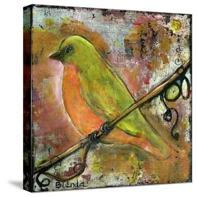 Peridot Bird-Blenda Tyvoll-Stretched Canvas Print