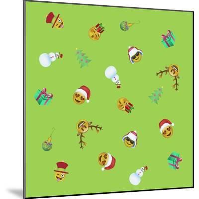 Xmas Emojis Mini Scramble-Ali Lynne-Mounted Giclee Print