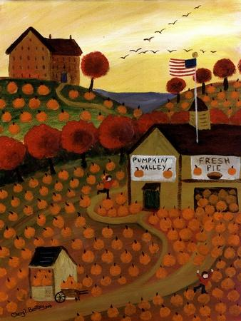 Pumpkin Valley Cheryl Bartley-Cheryl Bartley-Framed Giclee Print