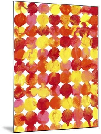 Pink Yellow Red Orange Flowing Paint-Amy Vangsgard-Mounted Giclee Print