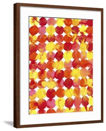 Pink Yellow Red Orange Flowing Paint-Amy Vangsgard-Framed Giclee Print