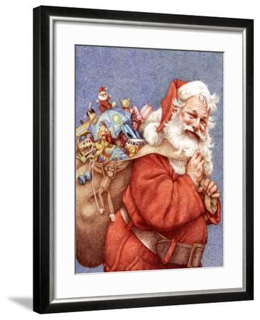 Finished Santa-Anne Yvonne Gilbert-Framed Giclee Print