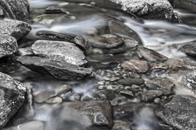 More Rocks BW-Bob Rouse-Framed Photographic Print
