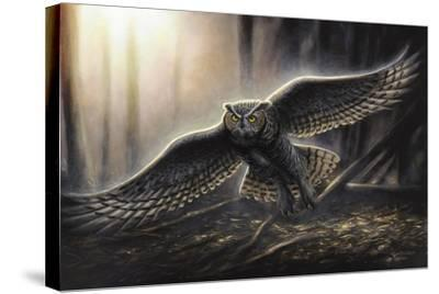 Out of the Dark-Chuck Black-Stretched Canvas Print