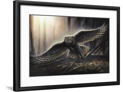 Out of the Dark-Chuck Black-Framed Giclee Print