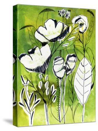 Abstract Garden-Cayena Blanca-Stretched Canvas Print