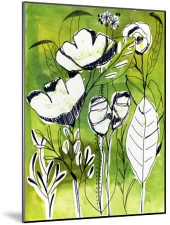 Abstract Garden-Cayena Blanca-Mounted Giclee Print