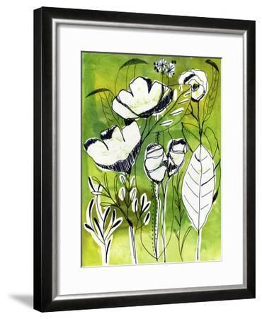 Abstract Garden-Cayena Blanca-Framed Giclee Print