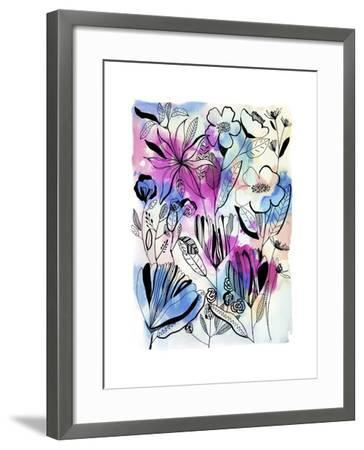 Flowers at Night-Cayena Blanca-Framed Giclee Print