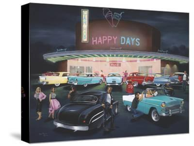 Happy Days-Geno Peoples-Stretched Canvas Print