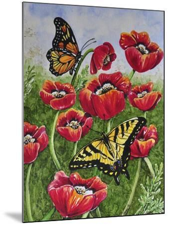 Monarch and Swallowtail-Charlsie Kelly-Mounted Giclee Print
