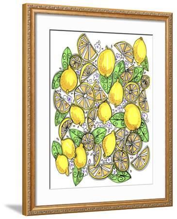 Lemons Original-Cyndi Lou-Framed Giclee Print