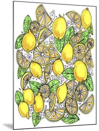 Lemons Original-Cyndi Lou-Mounted Giclee Print