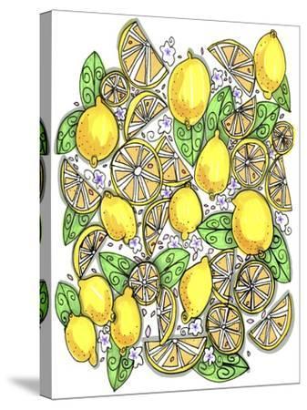 Lemons Original-Cyndi Lou-Stretched Canvas Print