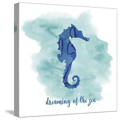 Seahorse-Erin Clark-Stretched Canvas Print