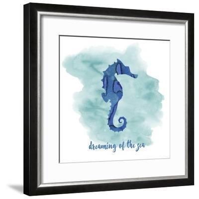Seahorse-Erin Clark-Framed Giclee Print