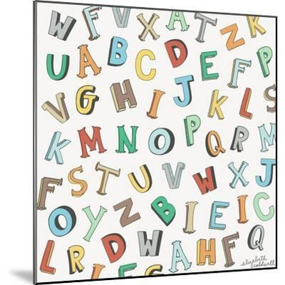 Alphabet Animals Letters-Elizabeth Caldwell-Mounted Giclee Print
