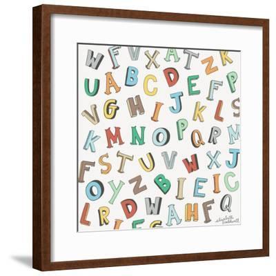 Alphabet Animals Letters-Elizabeth Caldwell-Framed Giclee Print