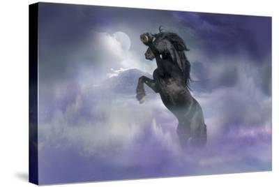 Dream Horses 056-Bob Langrish-Stretched Canvas Print